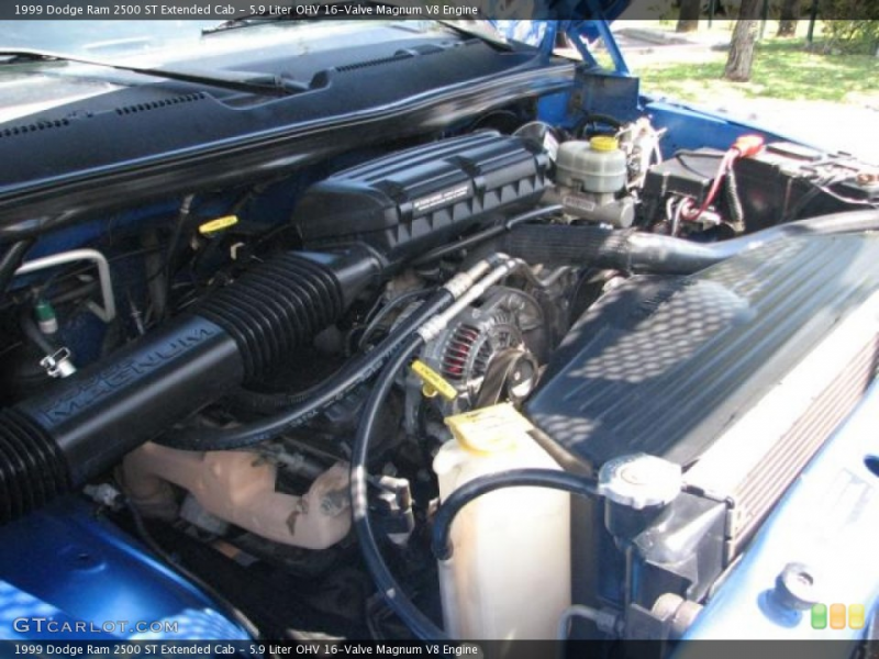Liter OHV 16-Valve Magnum V8 Engine on the 1999 Dodge Ram 2500 SLT ...