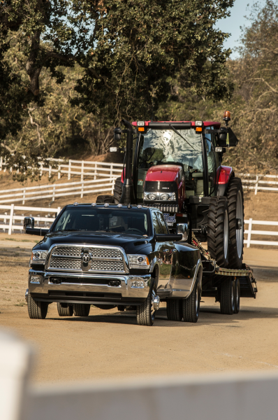 2014 Ram 3500 Heavy Duty Dualie Laramie Front View Towing