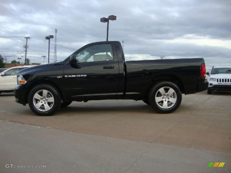 2012 Dodge Ram 1500 Express Regular Cab - Black Color / Dark Slate ...
