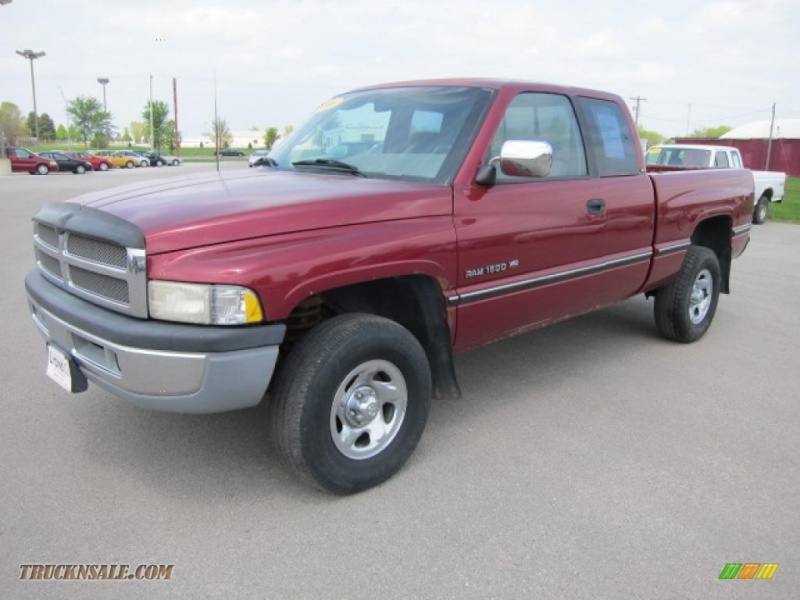 1996 Ram 1500 SLT Extended Cab - Claret Red Pearl / Gray photo #1