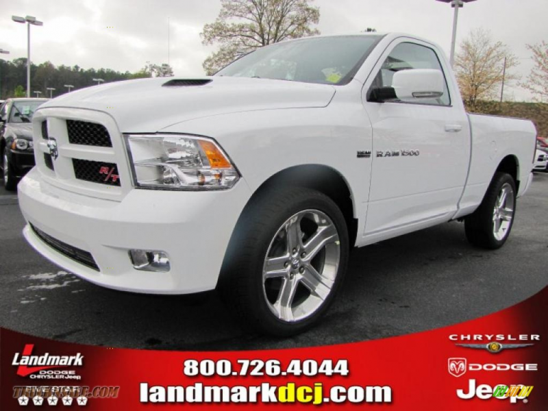 2011 Ram 1500 Sport R/T Regular Cab - Bright White / Dark Slate Gray ...