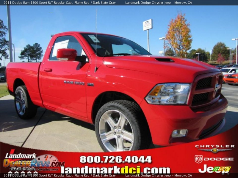 2011 Dodge Ram 1500 Sport R/T Regular Cab Flame Red / Dark Slate Gray ...