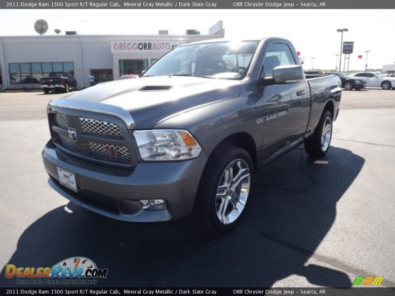 2011 Dodge Ram 1500 Sport R/T Regular Cab Mineral Gray Metallic / Dark ...