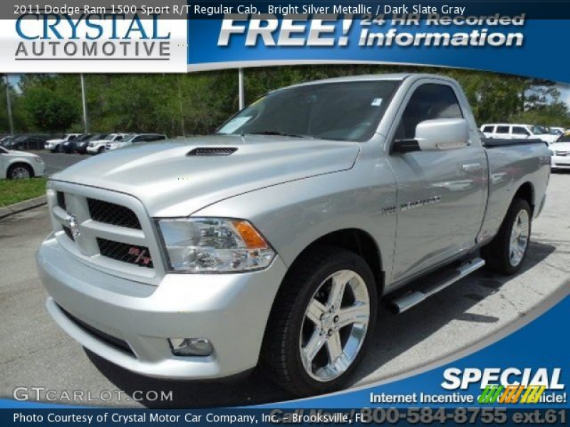 Bright Silver Metallic 2011 Dodge Ram 1500 Sport R/T Regular Cab with ...