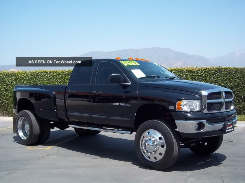 2004 Dodge Ram 3500 4x4 Dually With 22. 5 Semi Wheels And Tires ...