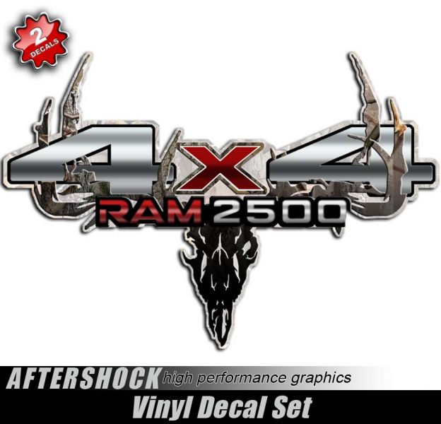 Home Stickers 4x4 Truck Stickers Ram 2500 4x4 Camo Skull Truck Decals