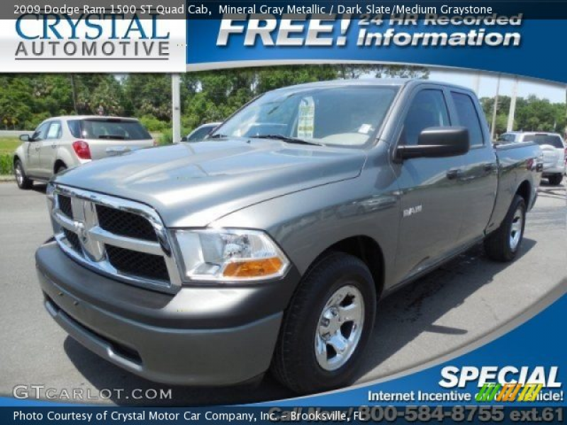 2009 Dodge Ram 1500 ST Quad Cab in Mineral Gray Metallic. Click to see ...