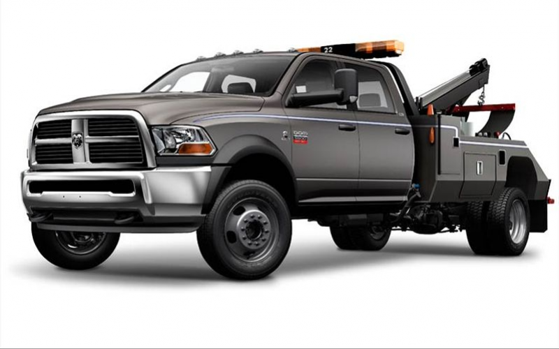 2012 Ram 5500 Chassis Cab Tow Truck Front View