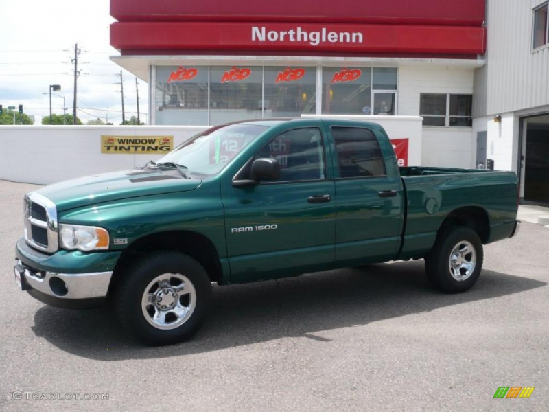 2003 Ram 1500 SLT Quad Cab 4x4 - Timberline Green Pearl / Gray photo ...
