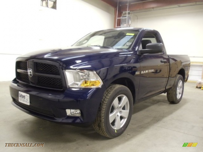 2012 Ram 1500 Express Regular Cab 4x4 - True Blue Pearl / Dark Slate ...
