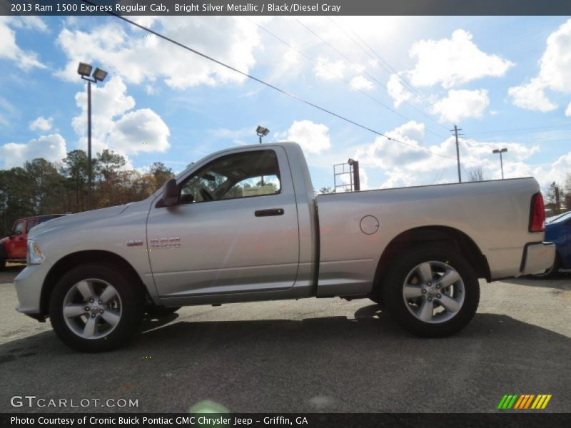 ... Silver Metallic / Black/Diesel Gray 2013 Ram 1500 Express Regular Cab