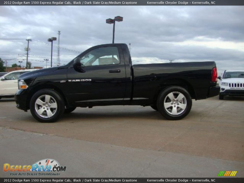 2012 Dodge Ram 1500 Express Regular Cab Black / Dark Slate Gray/Medium ...