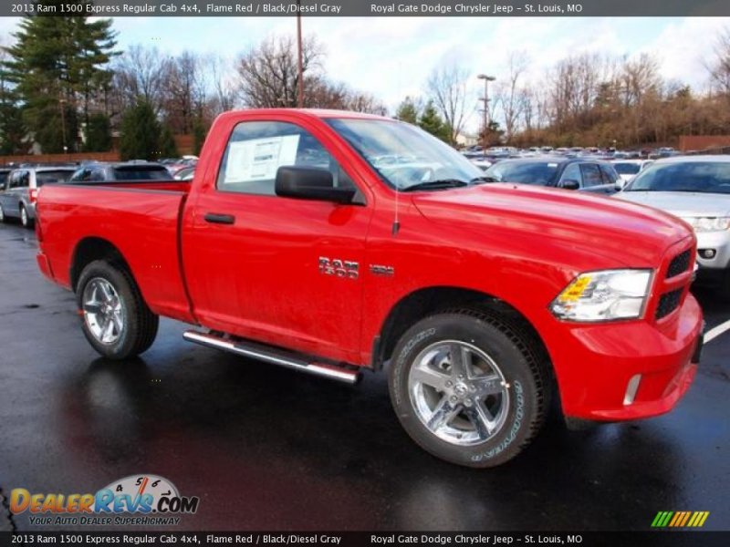 2013 Ram 1500 Express Regular Cab 4x4 Flame Red / Black/Diesel Gray ...