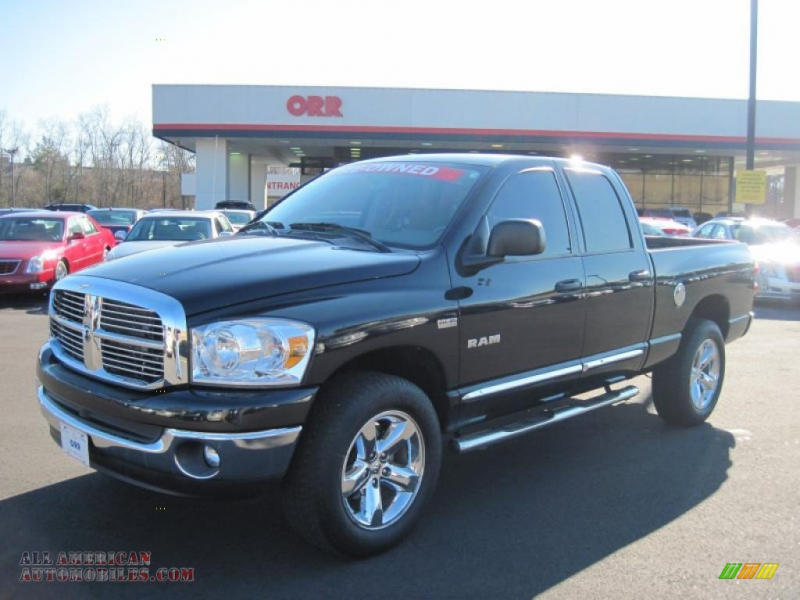 2008 Ram 1500 Big Horn Edition Quad Cab 4x4 - Brilliant Black Crystal ...