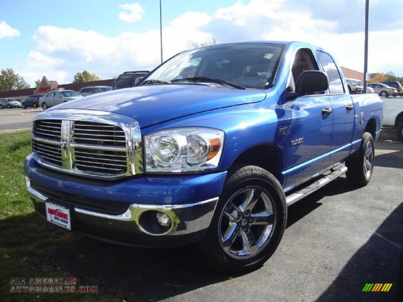 2008 Dodge Ram 1500 Big Horn Edition Quad Cab 4x4 in Electric Blue ...