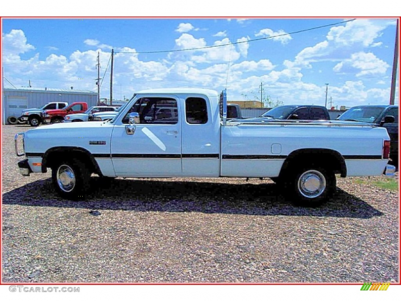 White 1993 Dodge Ram Truck D250 LE Extended Cab Exterior Photo ...