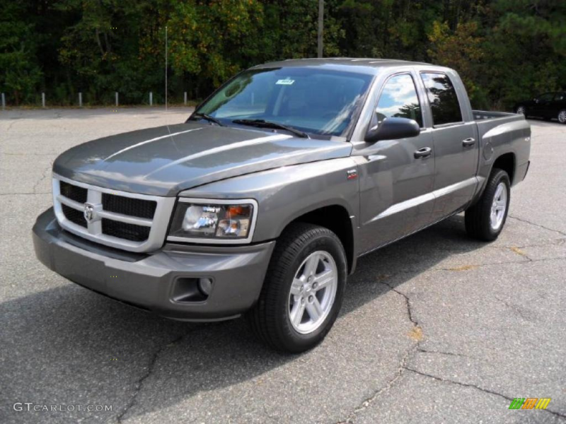 2011 Dakota Big Horn Crew Cab 4x4 - Mineral Gray Metallic / Dark Slate ...