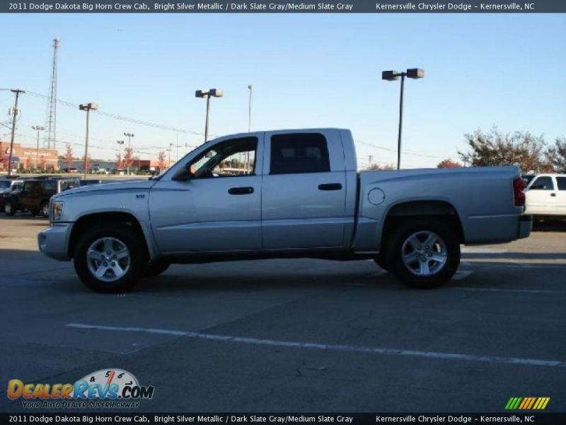 2011 Dodge Dakota Big Horn Crew Cab Bright Silver Metallic / Dark ...