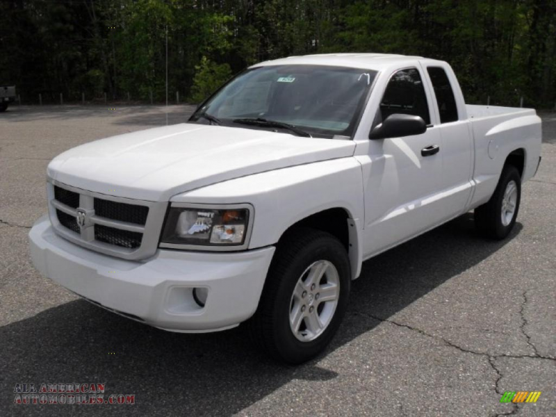 2011 Dakota Big Horn Extended Cab - Bright White / Dark Slate Gray ...