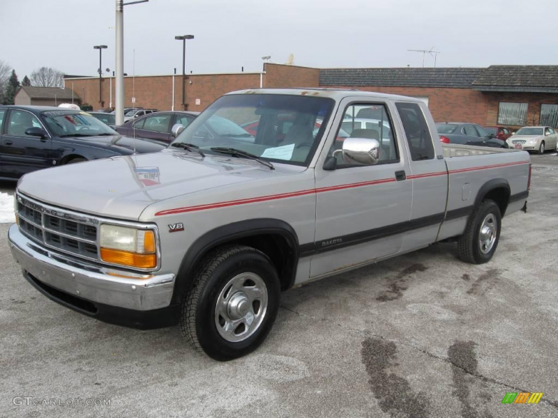 1995 Dakota SLT Extended Cab - Light Silver Star Metallic / Gray photo ...