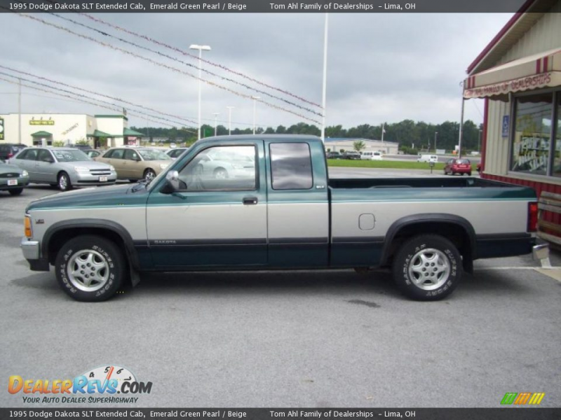 1995 Dodge Dakota SLT Extended Cab Emerald Green Pearl / Beige Photo ...