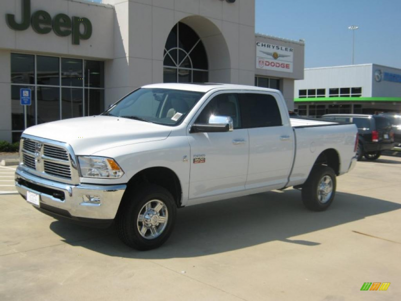 Bright White Clearcoat 2011 Dodge Ram 3500 Laramie with Light Pebble ...
