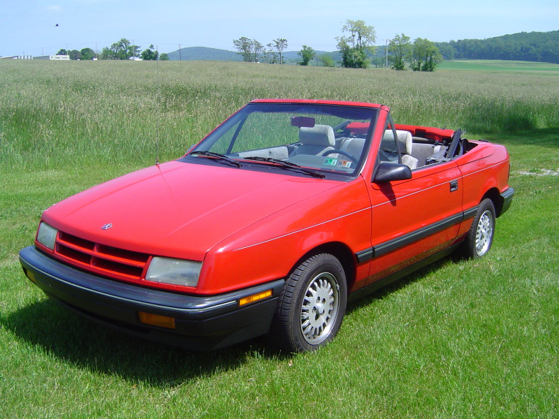 1991 Dodge Shadow 2 Dr ES Convertible picture, exterior