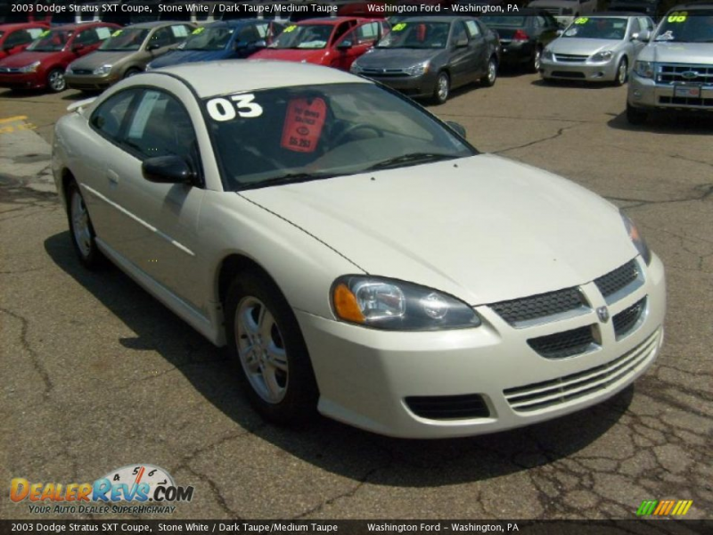 2003 Dodge Stratus SXT Coupe Stone White / Dark Taupe/Medium Taupe ...