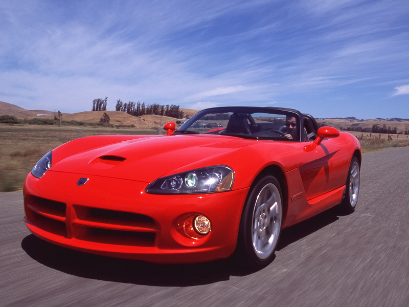 2003 Dodge Viper SRT-10 - Front Angle - Speed - 1600x1200 Wallpaper