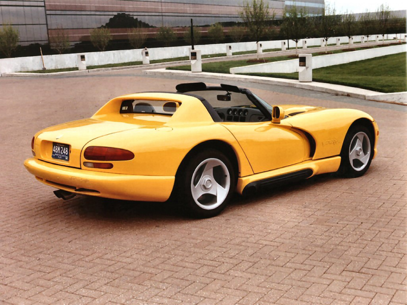 1997 Dodge Viper RT 10 at the Chrysler Technology Center Yellow rvr