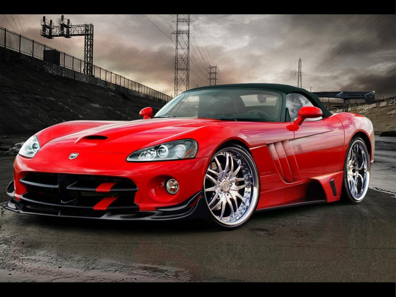 dodge viper in red dodge viper in red dodge viper in black dodge viper ...