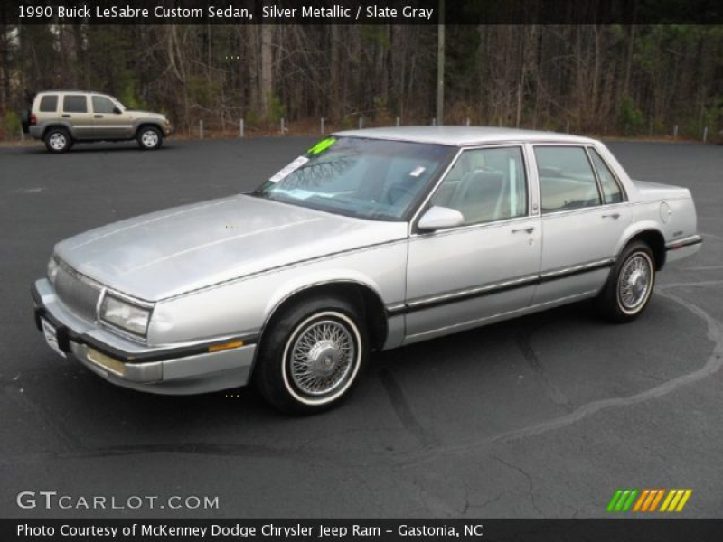 1990 Buick LeSabre Custom Sedan in Silver Metallic. Click to see large ...