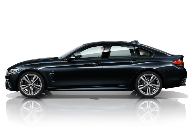 2015 BMW 435I Gran Coupe Navy Blue Side Profile.