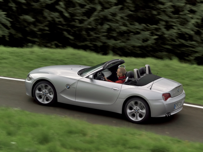 2006 BMW Z4 M Roadster - Silver - Rear Angle - Speed - 1280x960 ...