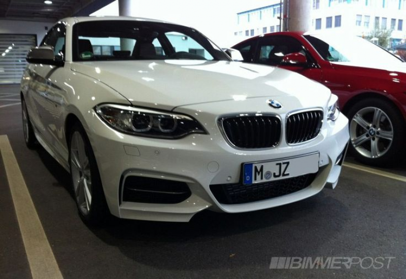 White BMW M235 Coupe