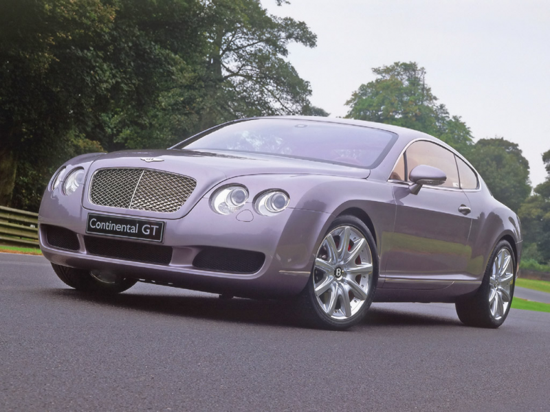 2004 Bentley Continental GT - Front Angle - Park - 1024x768 Wallpaper