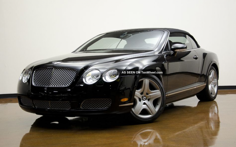 2007 Bentley Continental Gtc Convertible 2 Door 6 0l