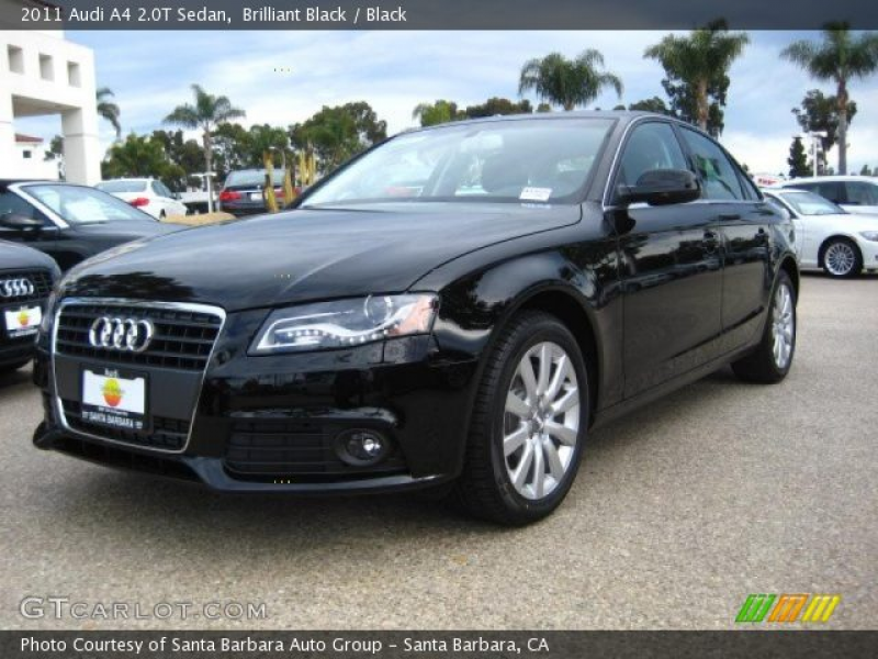 2011 Audi A4 2.0T Sedan in Brilliant Black. Click to see large photo.