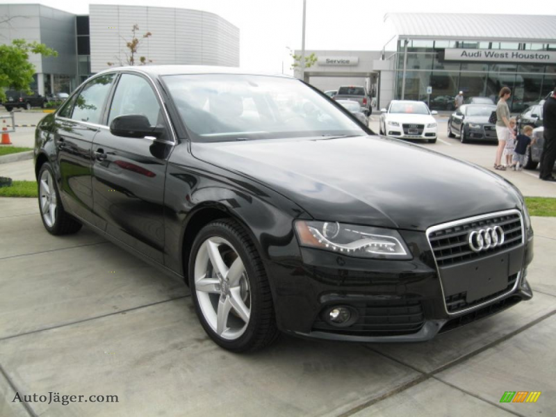 2011 A4 2.0T Sedan - Brilliant Black / Black photo #1