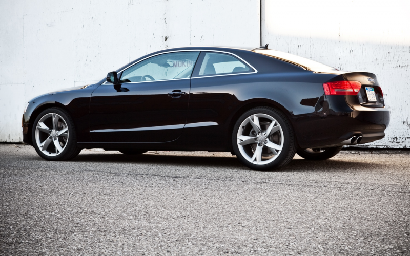 2012 audi A5 coupe rear left side view