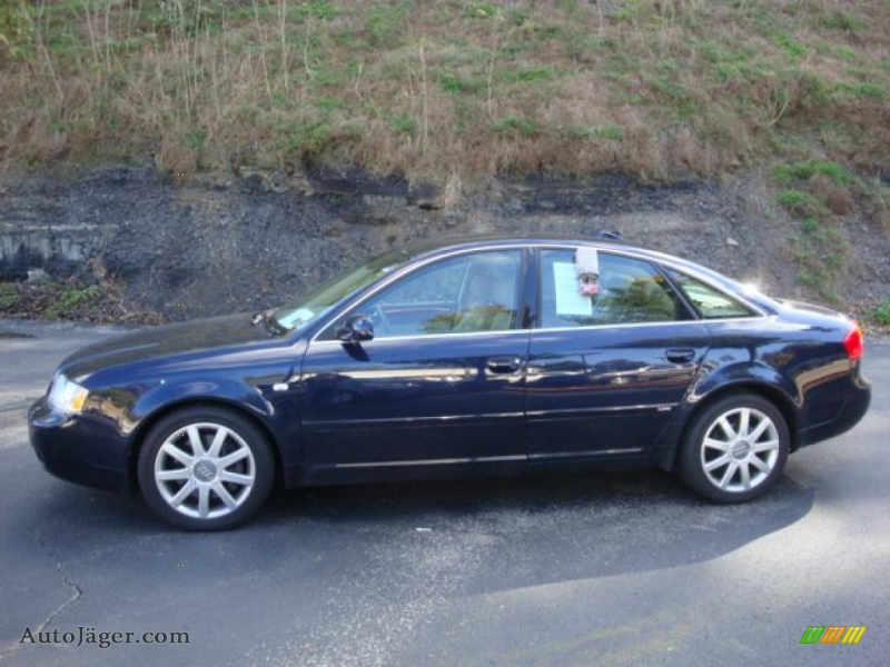 2004 A6 2.7T S-Line quattro Sedan - Night Blue Pearl Effect / Beige ...