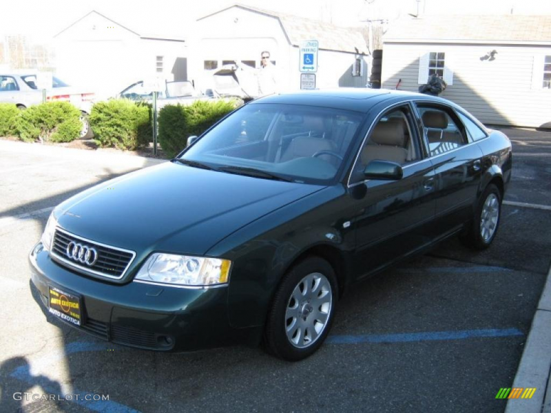 1999 A6 2.8 quattro Sedan - Jaspis Green Pearl / Melange Beige photo ...