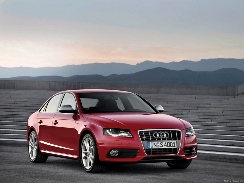 Audi s4 2009 Red Wallpaper