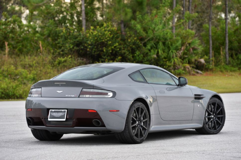 2015 Aston Martin V12 Vantage S Rear Three Quarters Gray