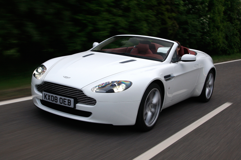 2014 Aston Martin V8 Vantage Roadster Three Quarters In Motion Drivers ...