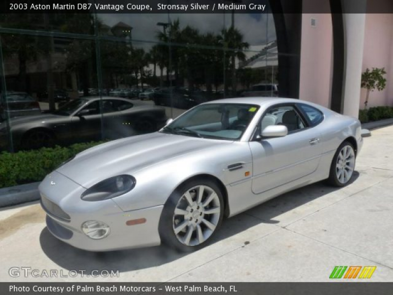 2003 Aston Martin DB7 Vantage Coupe in Stronsay Silver. Click to see ...