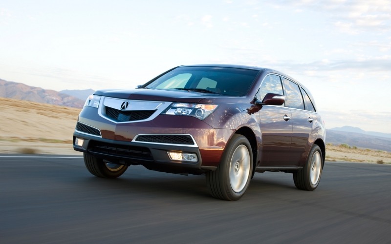 2012 Acura MDX Front Three Quarters In Motion 2