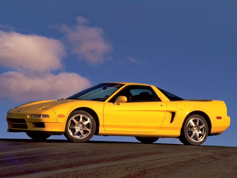 2000 Acura NSX--Yellow--Side--1280x960