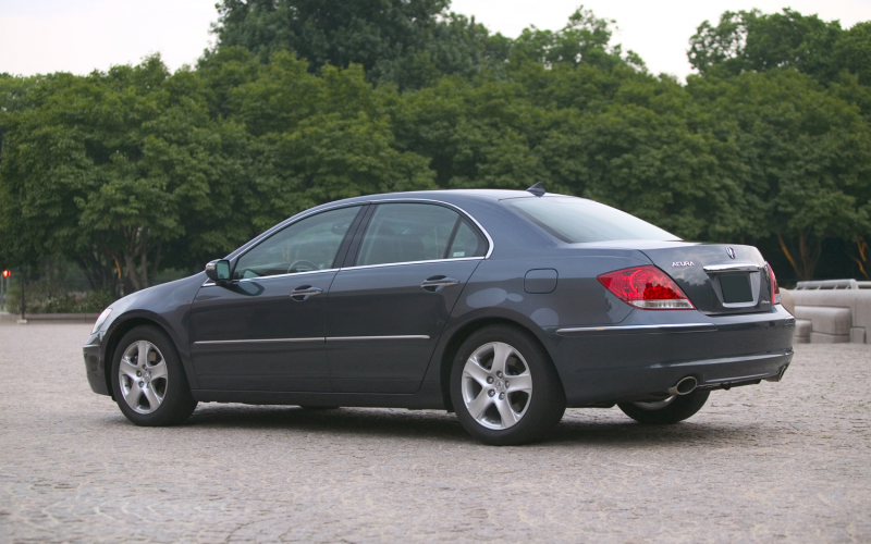 2005 Acura Rl Left Rear Quarter View