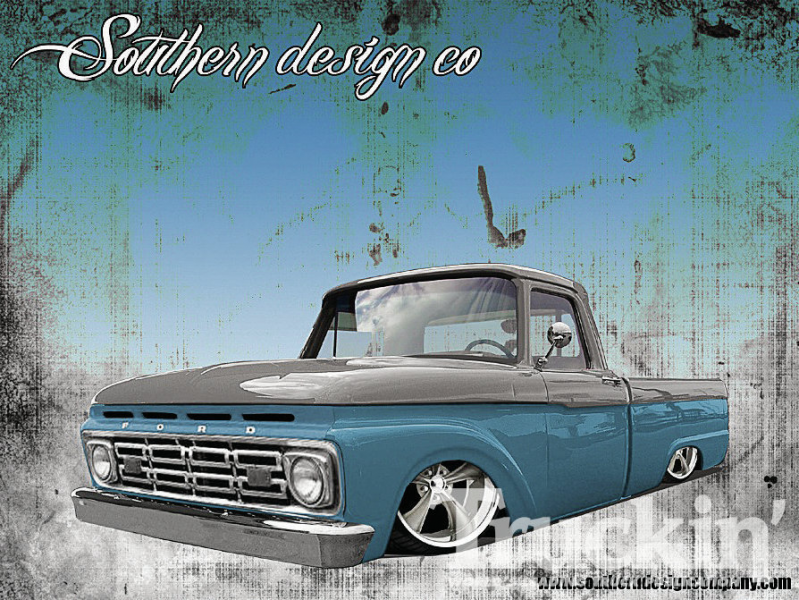 Busted Knuckles 1964 Ford F100 Rendering